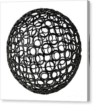 Abstract Sphere Canvas Print by Tony Cordoza