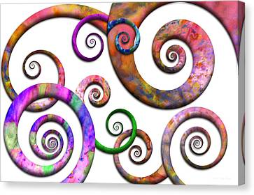 Abstract - Spirals - Planet X Canvas Print by Mike Savad