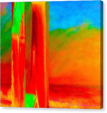 Abstract Splendor II Canvas Print by Glenna McRae