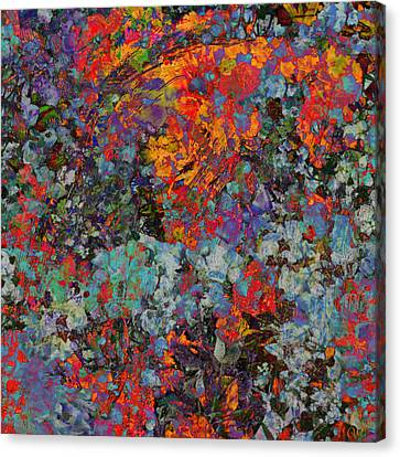 Canvas Print featuring the mixed media Abstract Spring by Ally  White