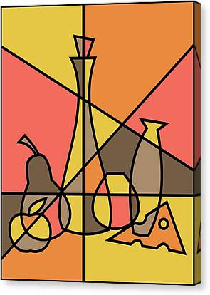 Abstract Still Life 2 Canvas Print by Donna Mibus