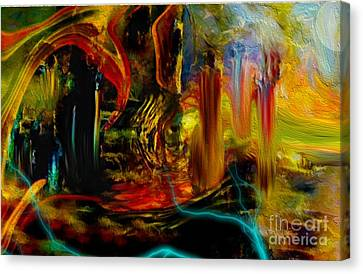Abstract Stranded Ship Canvas Print