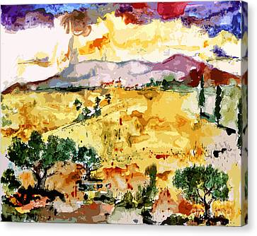 Abstract Summer Landscape Canvas Print by Ginette Callaway