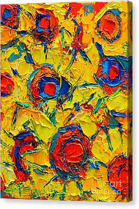 Abstract Sunflowers Canvas Print by Ana Maria Edulescu