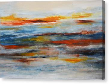 Abstract Sunrise Large Art Prints Canvas Print by Andrada Anghel