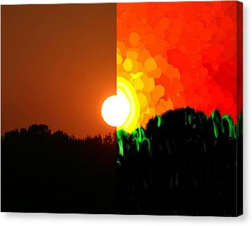 Abstract Sunset Canvas Print by Bruce Nutting