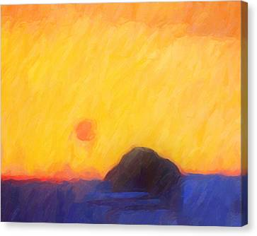 Abstract Sunset Canvas Print by Lutz Baar