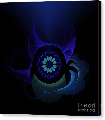 Canvas Print featuring the digital art Abstract Surprise by Hanza Turgul