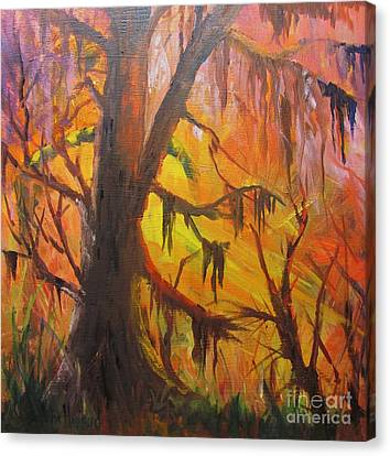 Abstract Swamp Canvas Print