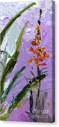Abstract Tall Floral Modern Decor Canvas Print by Ginette Callaway