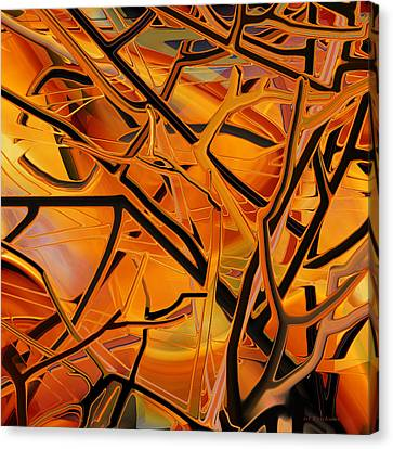 Abstract - Tangled Brush Canvas Print by rd Erickson