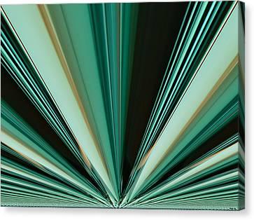 Abstract - Teal - Aqua - Six Canvas Print by Kathy K McClellan