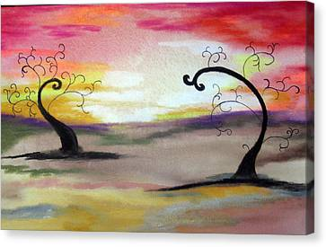 Abstract Tree #1 Canvas Print by Melissa Murphy