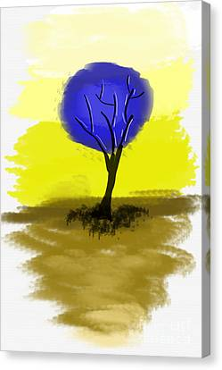 Abstract Tree Painting Canvas Print by Art Photography
