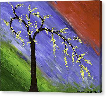 Abstract Tree Painting Canvas Print by Keith Webber Jr