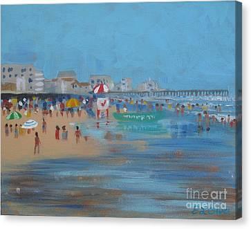 Abstract Ventnor Beach Canvas Print by Elisabeth Olver