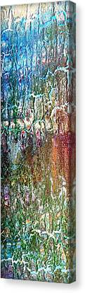 Abstract Vertical Painting  Diptych Print Set Dawn I I  Canvas Print by Holly Anderson