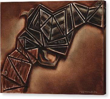 Abstract Vintage Hand Gun Art Print Canvas Print by Tommervik