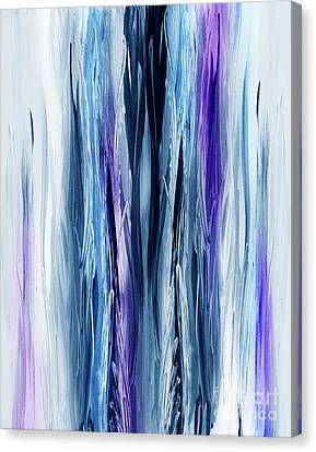 Kids Room Art Canvas Print - Abstract Waterfall Purple Flow by Irina Sztukowski
