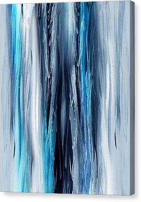 Abstract Waterfall Turquoise Flow Canvas Print