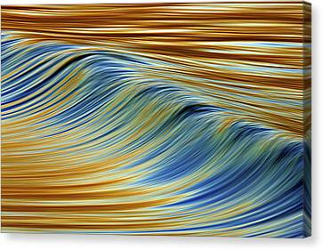 Canvas Print featuring the photograph Abstract Wave C6j7857 by David Orias