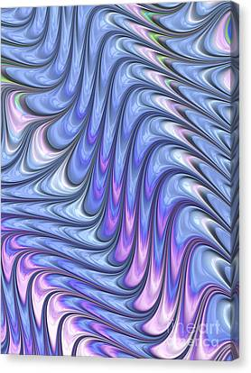 Abstract Waves Canvas Print by John Edwards