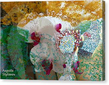 Abstract White Orchid Canvas Print by Augusta Stylianou