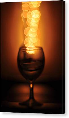 Abstract Wine Glass Canvas Print by Abdul  Rahman