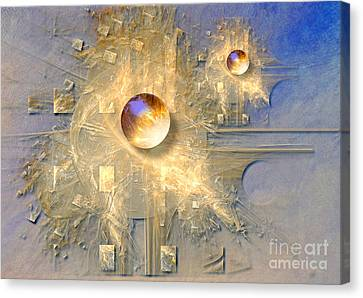 Canvas Print featuring the digital art Abstract With Balls by Alexa Szlavics