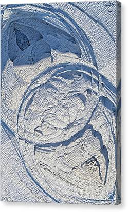 Abstract With Blue Shadows Canvas Print by Matt Lindley