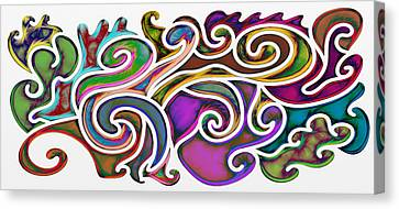 Abstract With Filter Effect Canvas Print by Gina Lee Manley