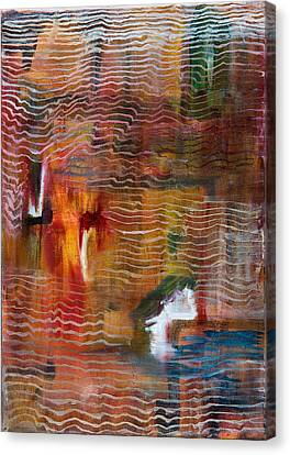 Abstract With Lines Canvas Print by Cathal Lindsay