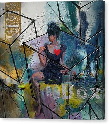 Abstract Woman 002 Canvas Print by Corporate Art Task Force