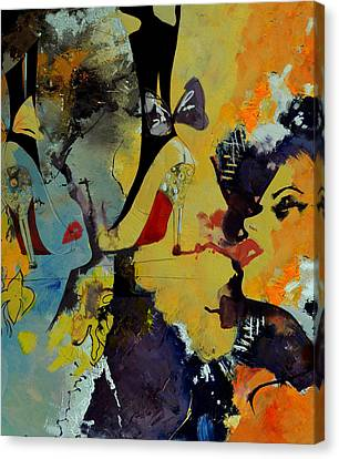 Abstract Women 010 Canvas Print by Corporate Art Task Force