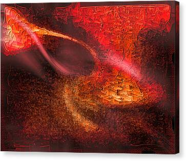 Canvas Print featuring the painting Abstract Xxiv by Tyler Robbins