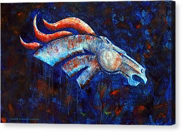 Abstracted Bronco Canvas Print by Jennifer Godshalk