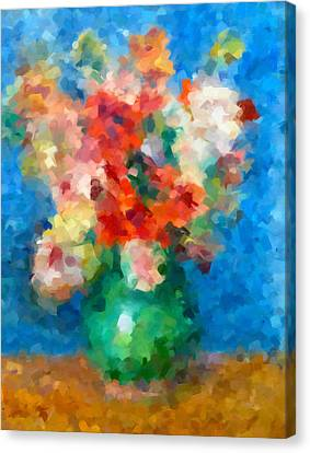 Abstract Art Canvas Print - Abstracting Renoir by Georgiana Romanovna