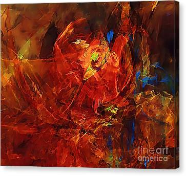 Abstraction 0249 Marucii Canvas Print by Marek Lutek