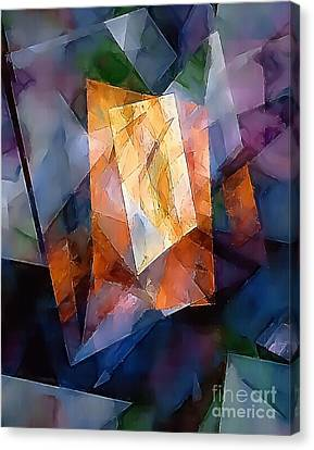 Abstraction 0257 Marucii Canvas Print by Marek Lutek