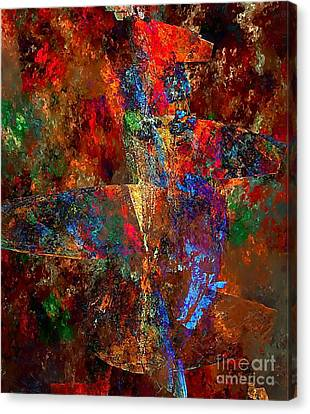 Abstraction 0393 Marucii Canvas Print by Marek Lutek