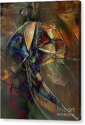 Abstraction 0497 Marucii Canvas Print by Marek Lutek