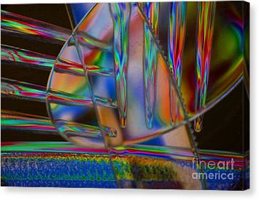 Abstraction In Color 1 Canvas Print by Crystal Nederman