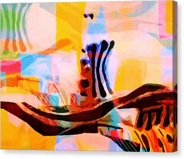 Colorful Abstraction Canvas Print by Lutz Baar