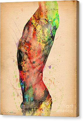 Abstractiv Body - 3 Canvas Print by Mark Ashkenazi