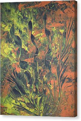 Canvas Print featuring the painting Abstrakte Farben by Nico Bielow