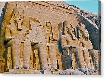 Canvas Print featuring the photograph Abu Simbel by Cassandra Buckley