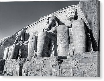 Abu Simbel - Monument To A Pharaoh Canvas Print by Mark E Tisdale