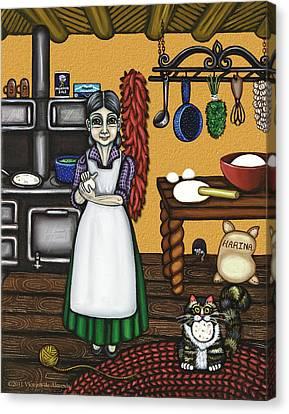 Abuelita Or Grandma Canvas Print by Victoria De Almeida