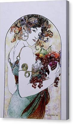 Abundance After Mucha Canvas Print