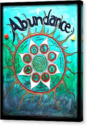 Abundance Money Magnet - Healing Art Canvas Print by Absinthe Art By Michelle LeAnn Scott
